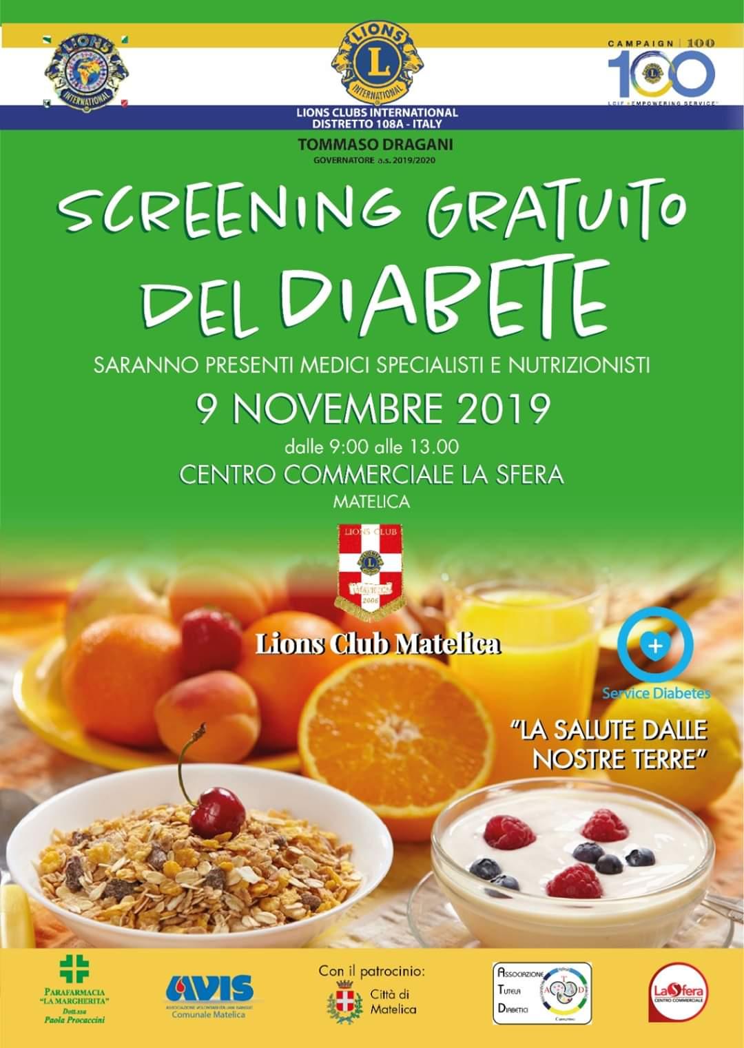 Screening gratuito del diabete – Matelica – ATD Camerino