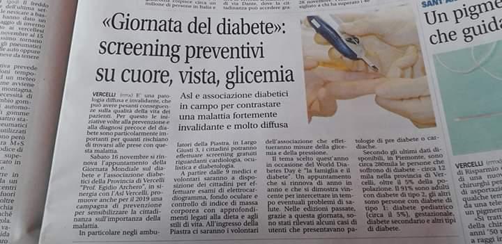 Vercelli giornata del diabete