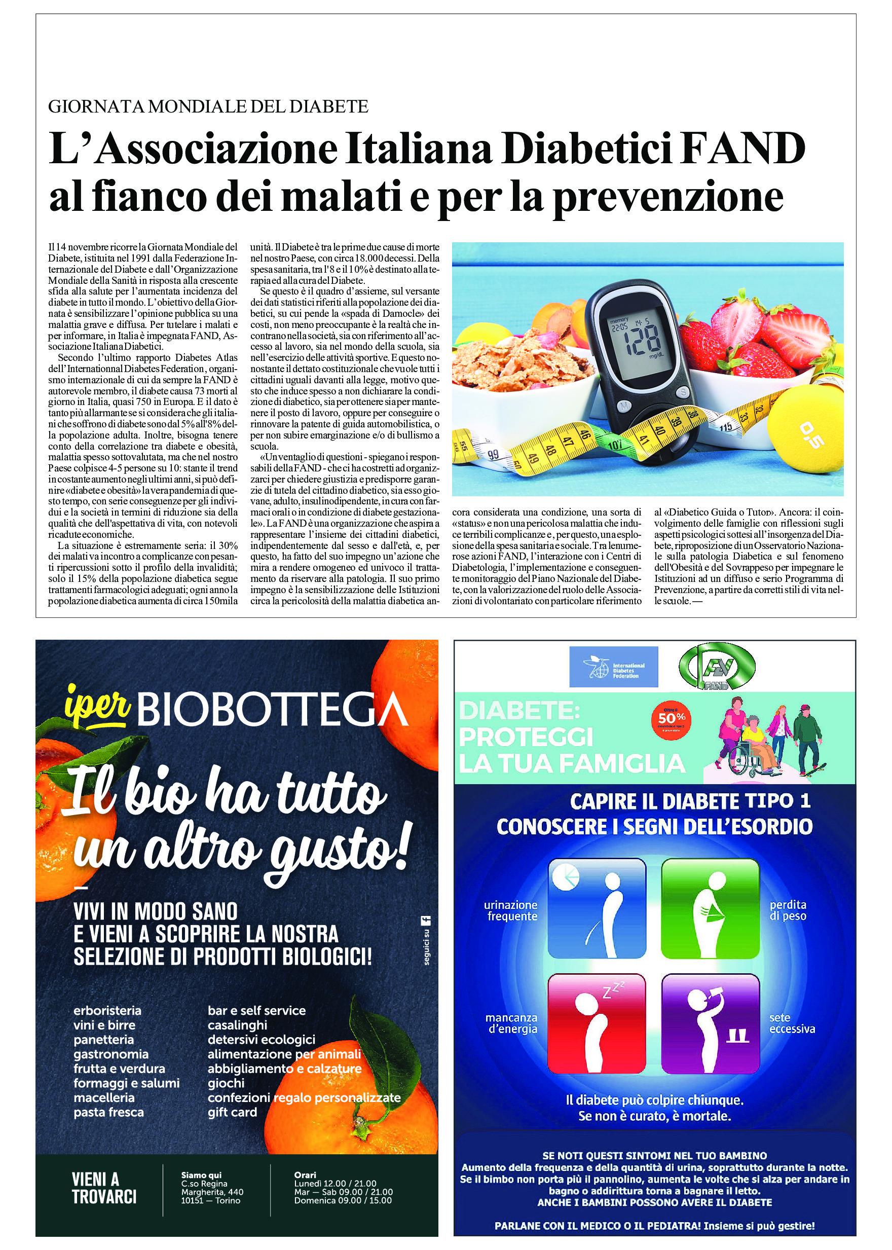 La FAND al fianco delle persone con diabete e per la prevenzione
