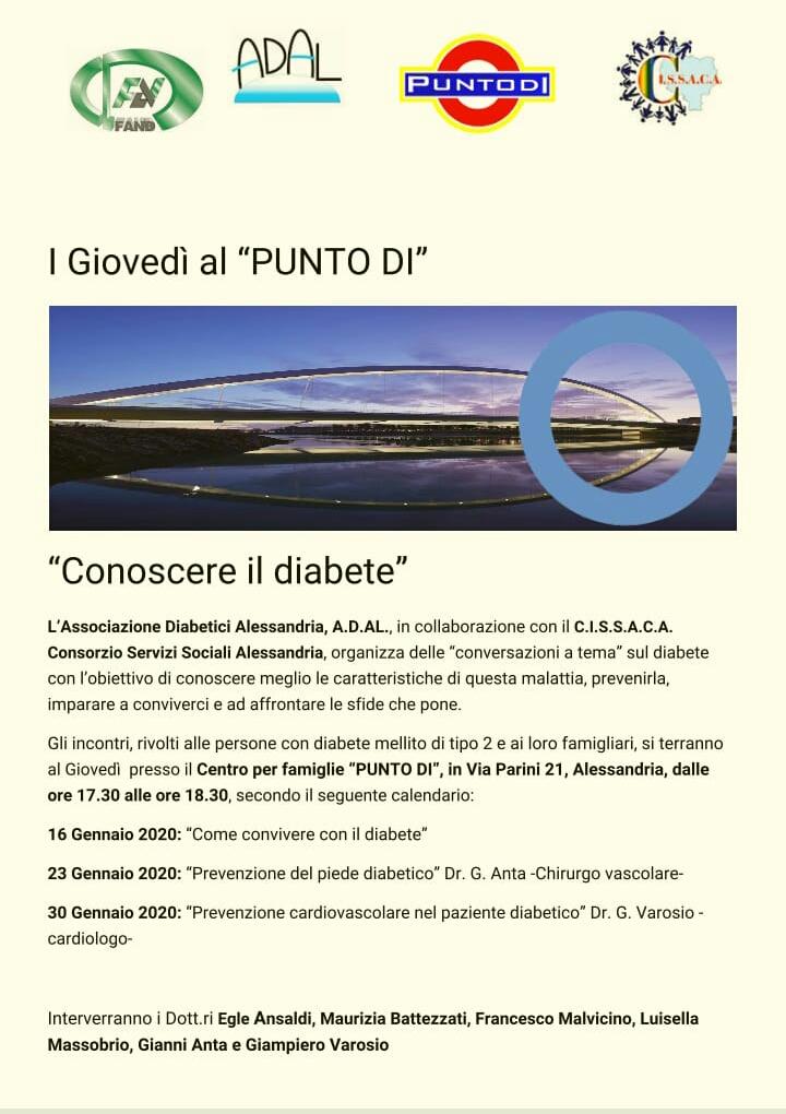 """I Giovedì al """"PUNTO DI"""" si parla di Diabete"""