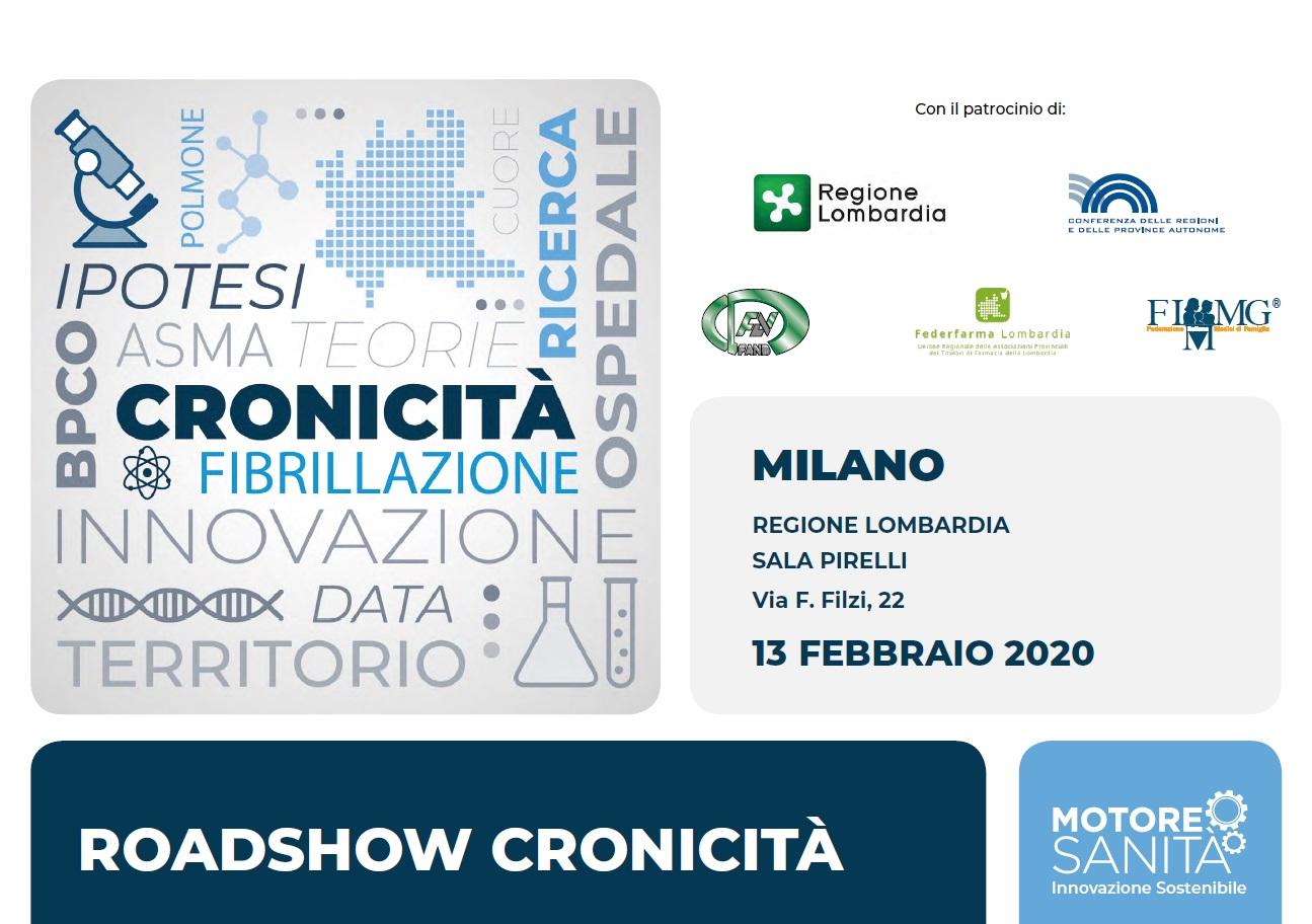 Motore Sanità – Roadshow Cronicità – Milano, 13 febbraio 2020