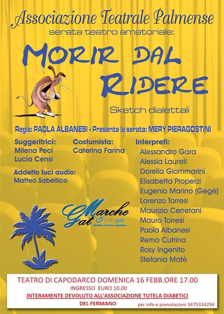 """""""MORIR DAL RIDERE"""" – Associazione Teatrale Palmense"""