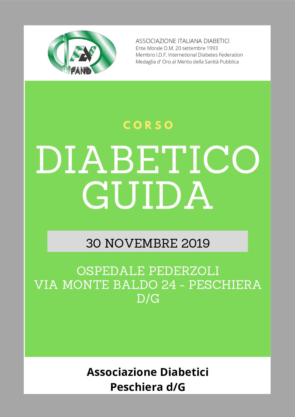 Corso Diabetico Guida – Peschiera del Garda
