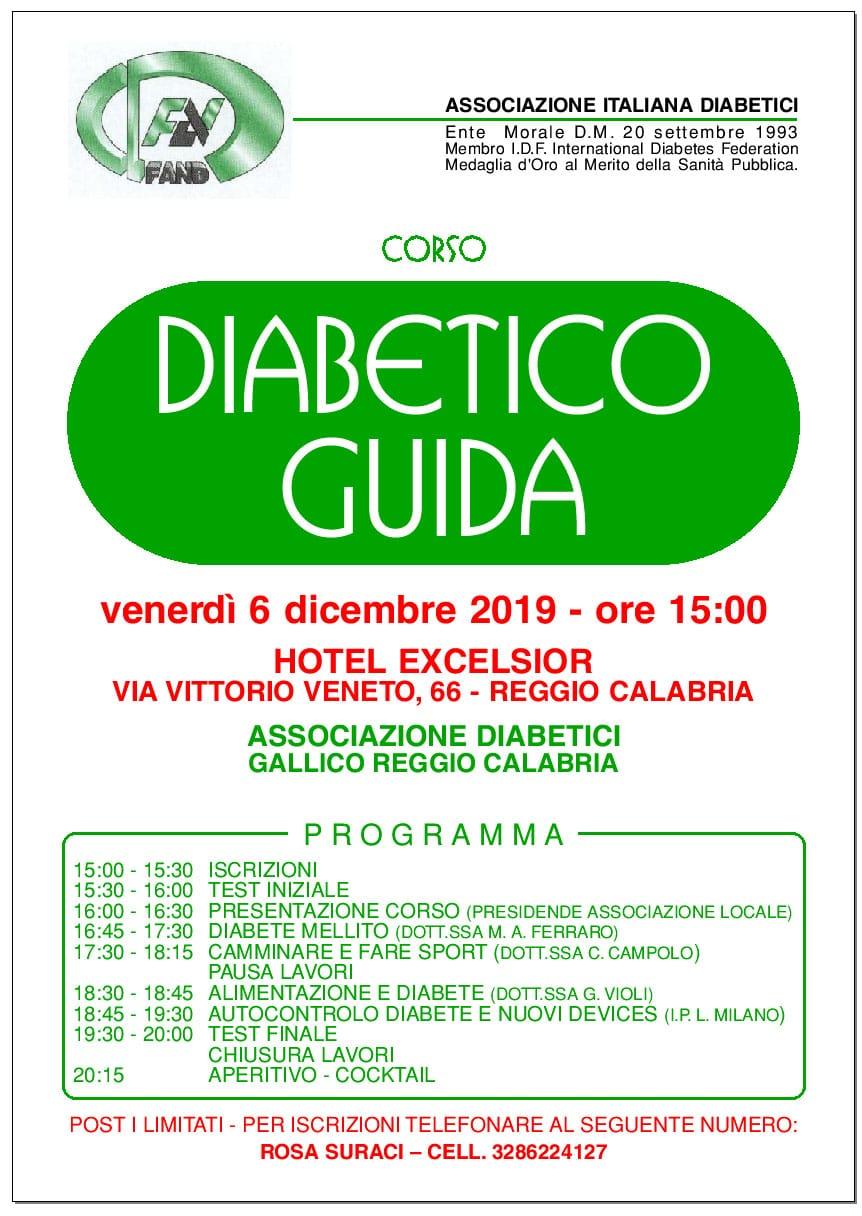 Corso Diabetico Guida – Reggio Calabria