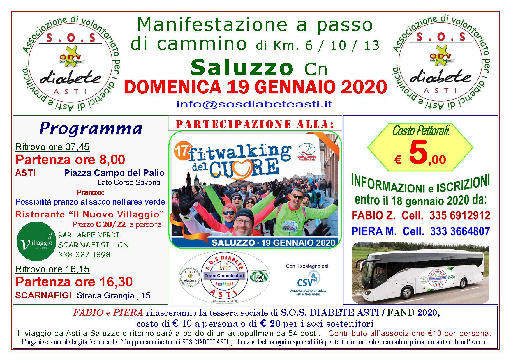 Manifestazione a passo di cammino – Saluzzo (CN)