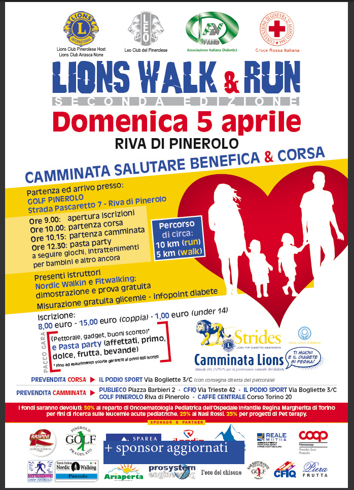 LIONS WALK & RUN – Riva di Pinerolo