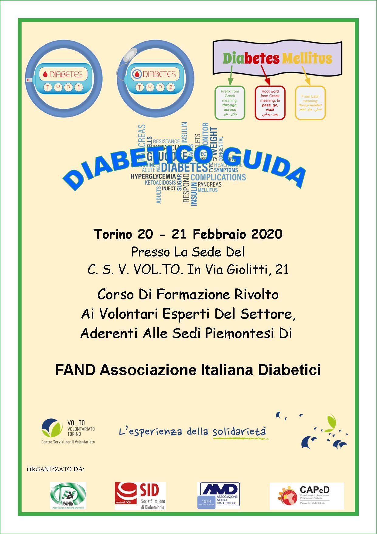 DIABETICO GUIDA – 20-21 Febbraio 2020