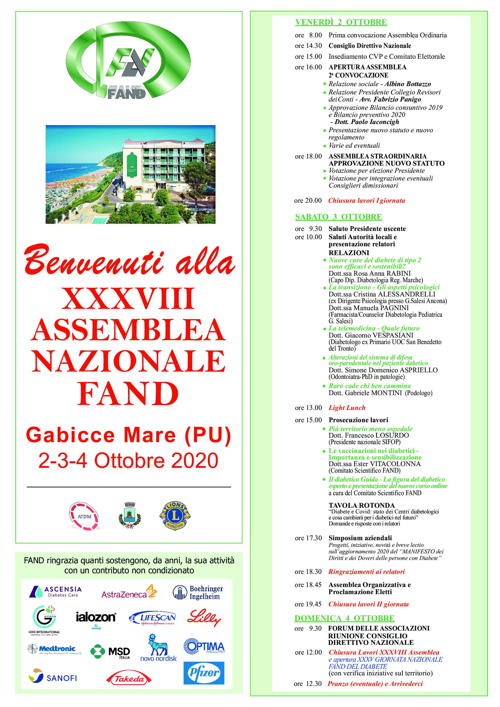 XXXVIII Assemblea Nazionale FAND – Gabicce 2-4 Ottobre