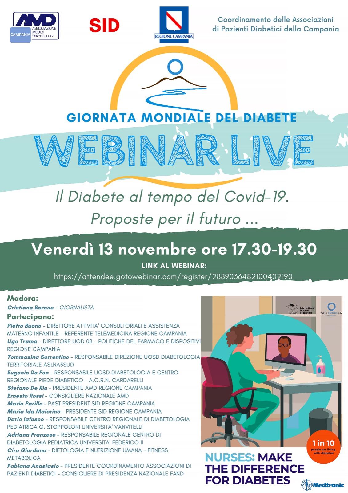 GMD Campania webinar : Il diabete al tempo del Covid-19 proposte per il futuro