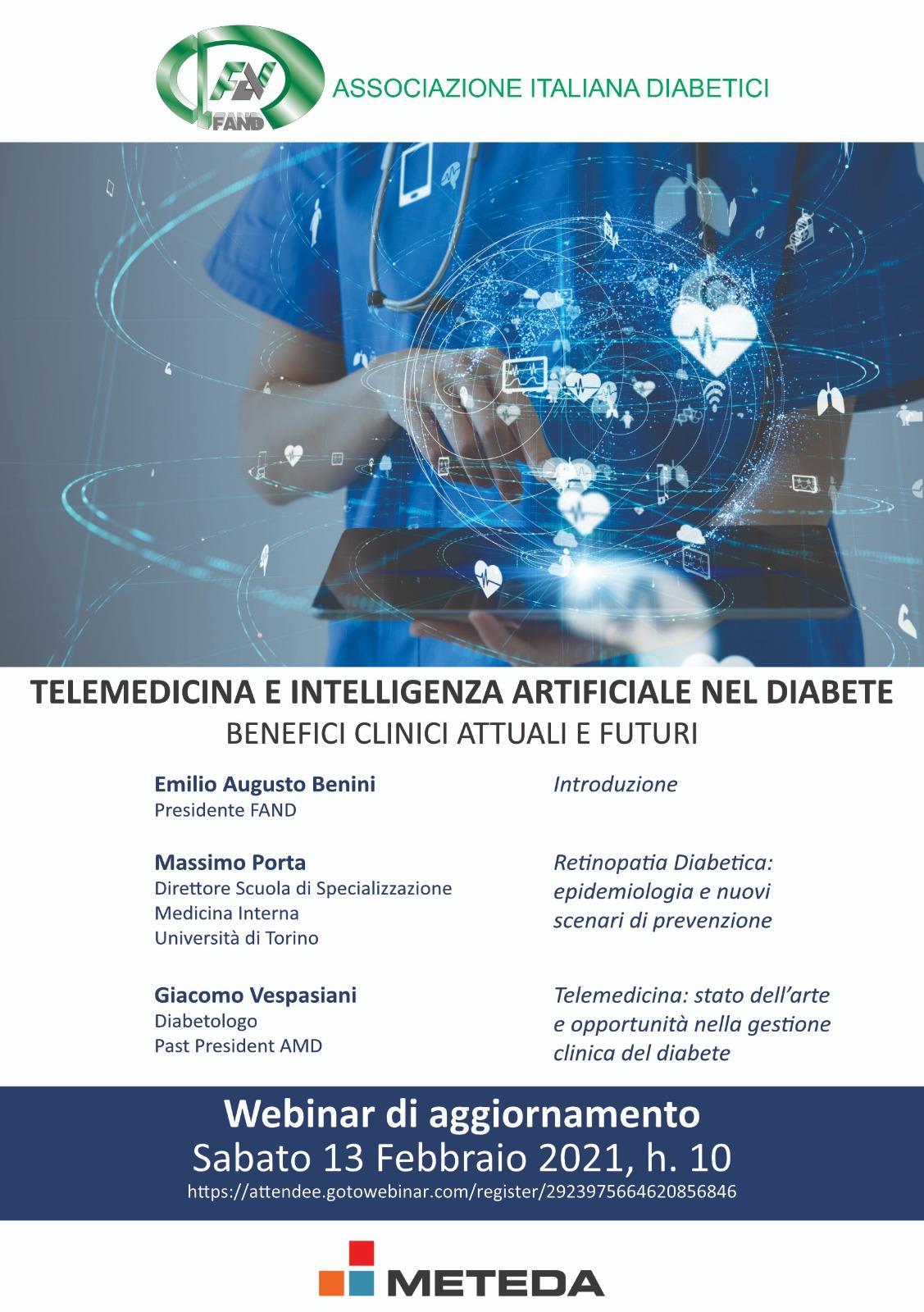 Telemedicina e intelligenza artificiale sul diabete